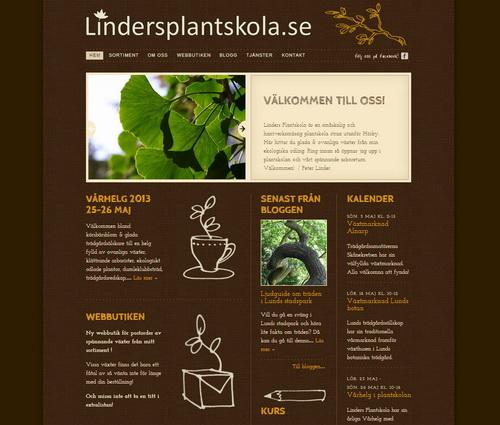 Linders Plantskola hemsida